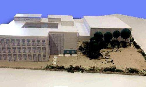 Modell des neuen Schulgebäudes